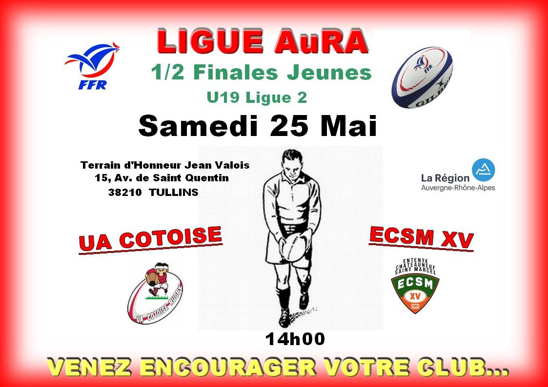 Affiche match juniors du 25 05 2019