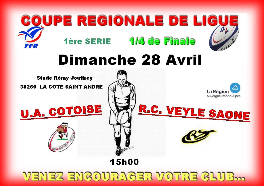 Affiche match seniors du 28 04 2019