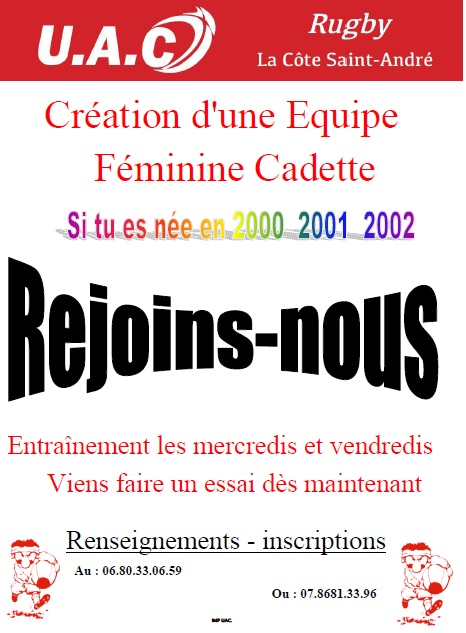 Affiche recrutement feminines bon