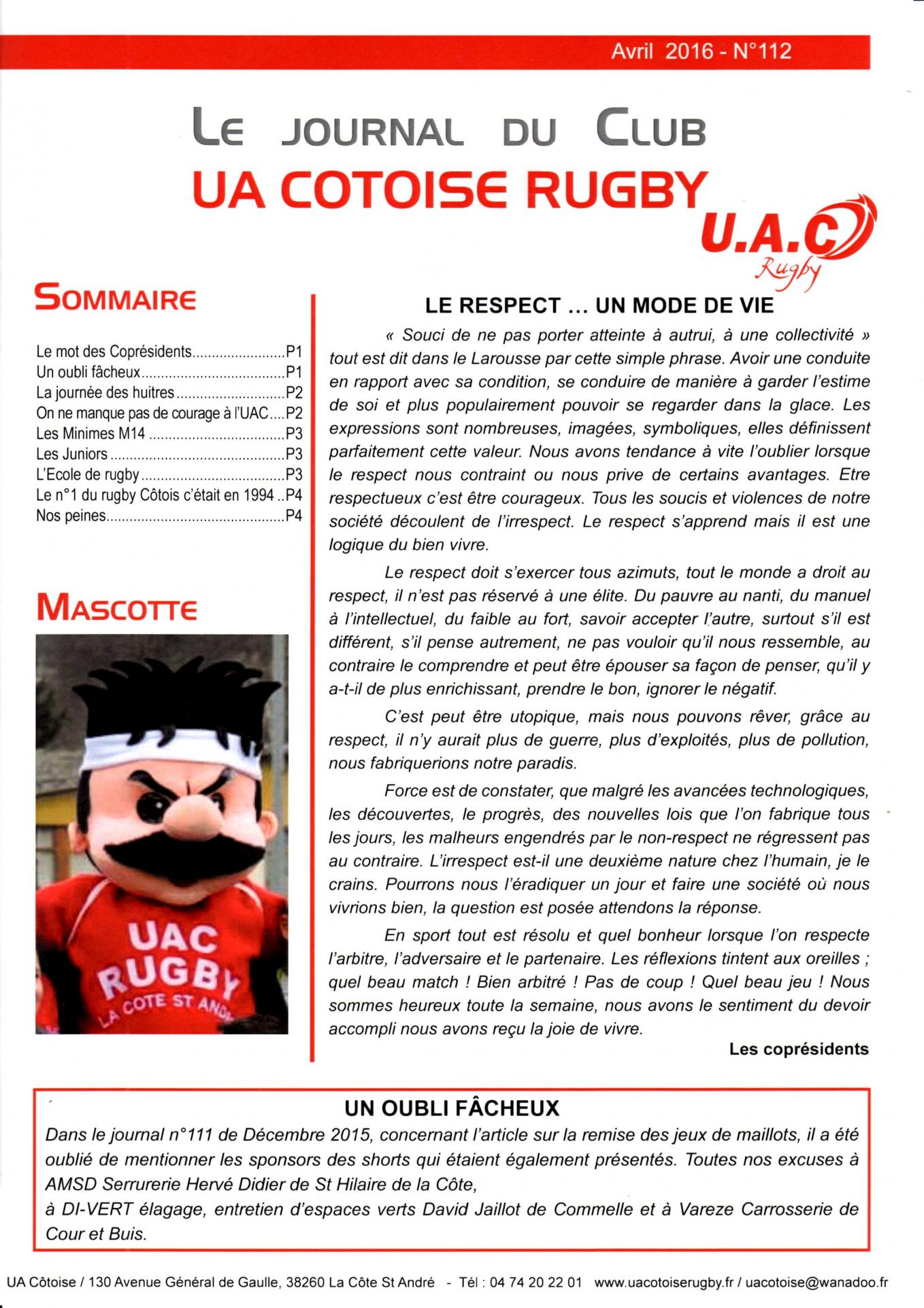 Journal du club p1 n 112