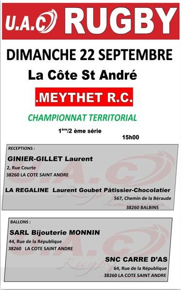 Match meythet vs uac bon