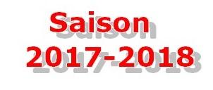 Saison 2017 et 2018